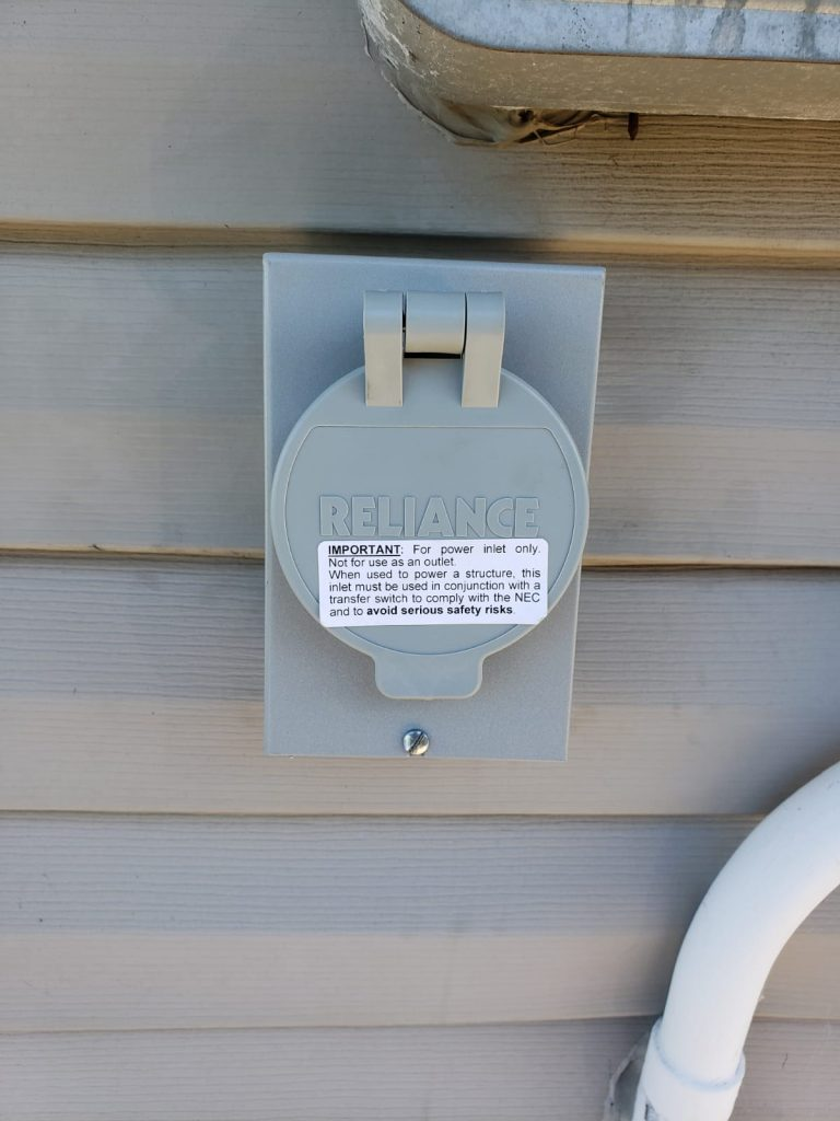Generator Plug On A Residence, Nassau County NY